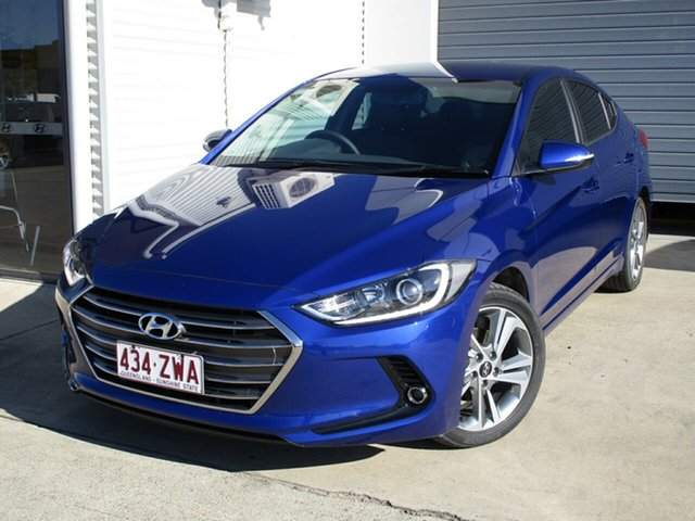 Used Hyundai Elantra AD MY18 Elite, 2018 Hyundai Elantra AD MY18 Elite Blue 6 Speed Sports Automatic Sedan