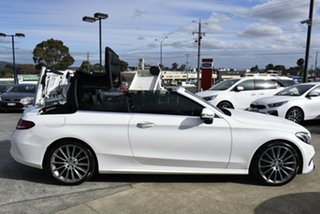 2017 Mercedes-Benz C-Class A205 807+057MY C300 9G-Tronic White 9 Speed Sports Automatic Cabriolet