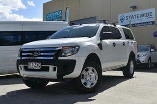 2011 Ford Ranger PX XL 2.2 Hi-Rider (4x2) White 6 Speed Automatic Crew Cab Chassis.