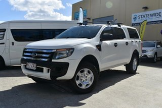 2011 Ford Ranger PX XL 2.2 Hi-Rider (4x2) White 6 Speed Automatic Crew Cab Chassis
