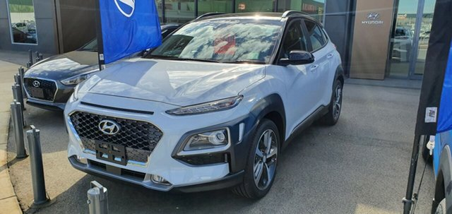 New Hyundai Kona OS.3 MY20 Highlander 2WD, 2020 Hyundai Kona OS.3 MY20 Highlander 2WD Chalk White & Black Roof 6 Speed Sports Automatic Wagon