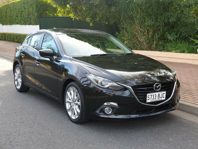 Used Mazda 3 BM5438 SP25 SKYACTIV-Drive GT, 2015 Mazda 3 BM5438 SP25 SKYACTIV-Drive GT Black 6 Speed Sports Automatic Hatchback