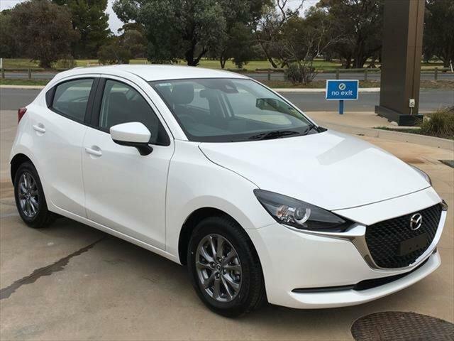 Demo Mazda 2 DJ2HAA G15 SKYACTIV-Drive Pure Berri, 2020 Mazda 2 DJ2HAA G15 SKYACTIV-Drive Pure Snowflake White Pearl 6 Speed Sports Automatic Hatchback