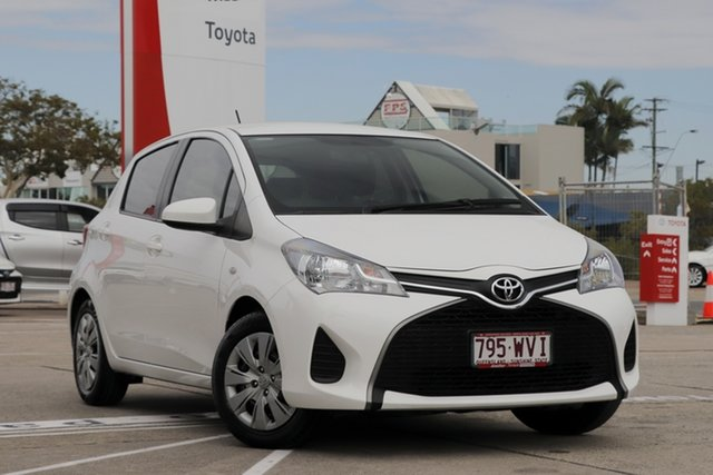 Used Toyota Yaris NCP130R Ascent, 2016 Toyota Yaris NCP130R Ascent Super White 5 Speed Manual Hatchback