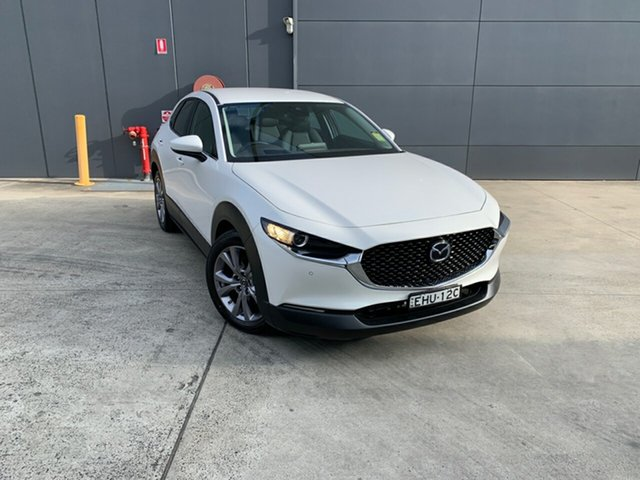 Demo Mazda CX-30 DM2W7A G20 SKYACTIV-Drive Touring, 2020 Mazda CX-30 DM2W7A G20 SKYACTIV-Drive Touring Snowflake White 6 Speed Sports Automatic Wagon