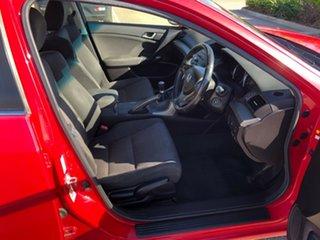 2010 Honda Accord Euro CU MY10 Red 6 Speed Manual Sedan.