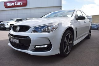 2016 Holden Commodore VF II MY16 SV6 Black White 6 Speed Sports Automatic Sedan.