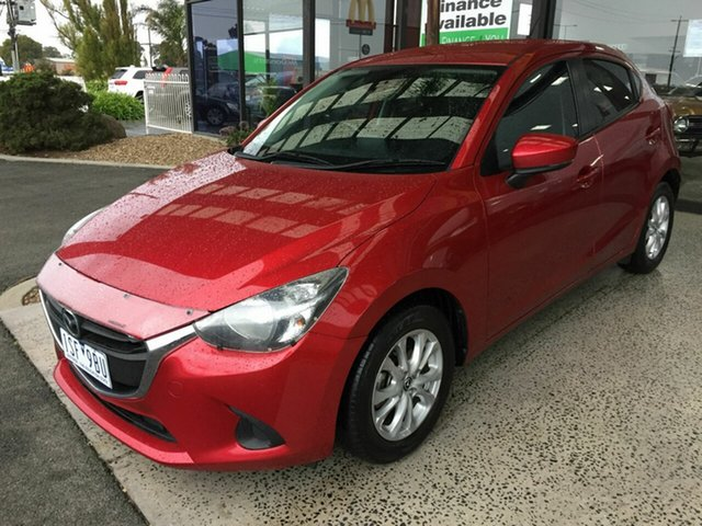 Used Mazda 2 DJ MY16 Maxx, 2017 Mazda 2 DJ MY16 Maxx Red 6 Speed Automatic Hatchback