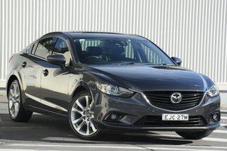 2014 Mazda 6 GJ1031 MY14 Atenza SKYACTIV-Drive Grey 6 Speed Sports Automatic Sedan.