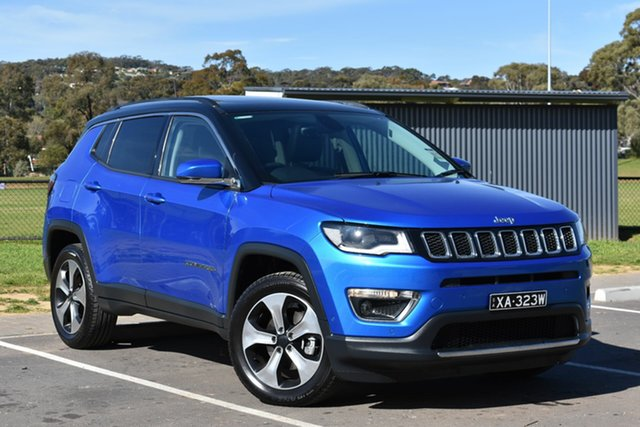 Used Jeep Compass M6 MY18 Limited, 2018 Jeep Compass M6 MY18 Limited Blue 9 Speed Automatic Wagon
