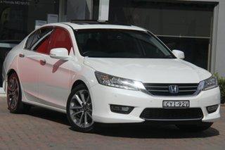 2015 Honda Accord 9th Gen MY15 V6L White 6 Speed Sports Automatic Sedan.