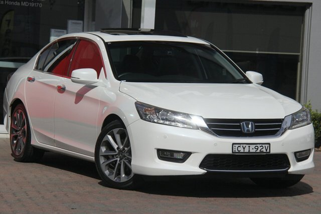 Used Honda Accord 9th Gen MY15 V6L, 2015 Honda Accord 9th Gen MY15 V6L White 6 Speed Sports Automatic Sedan