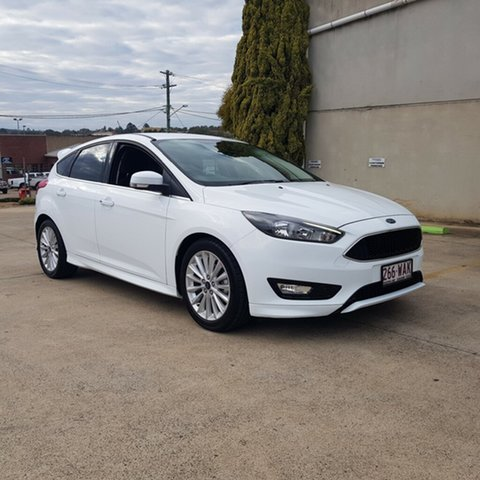 Used Ford Focus LZ Sport, 2015 Ford Focus LZ Sport White 6 Speed Manual Hatchback