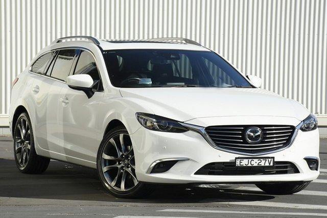 Used Mazda 6 GL1021 Atenza SKYACTIV-Drive, 2017 Mazda 6 GL1021 Atenza SKYACTIV-Drive White 6 Speed Sports Automatic Sedan