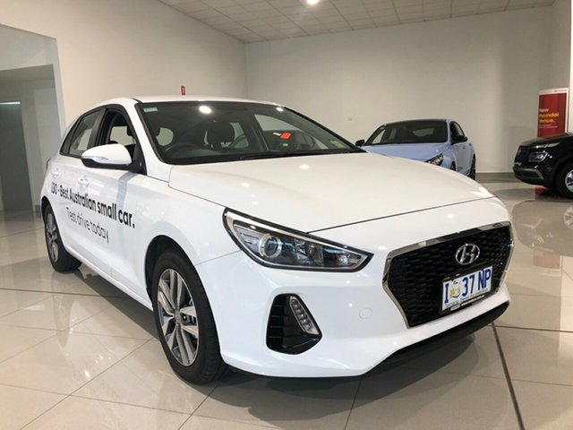 Demo Hyundai i30 PD2 MY19 Active D-CT, 2019 Hyundai i30 PD2 MY19 Active D-CT Polar White 7 Speed Sports Automatic Dual Clutch Hatchback