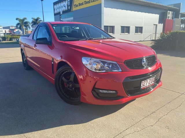 Used Holden Ute VF II MY16 SV6 Ute Black, 2016 Holden Ute VF II MY16 SV6 Ute Black Red 6 Speed Sports Automatic Utility