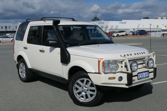 Used Land Rover Discovery 3 Series 3 09MY SE, 2009 Land Rover Discovery 3 Series 3 09MY SE Alaska White 6 Speed Sports Automatic Wagon