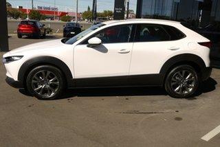 2020 Mazda CX-30 DM4WLA G25 SKYACTIV-Drive i-ACTIV AWD Astina White 6 Speed Sports Automatic Wagon.