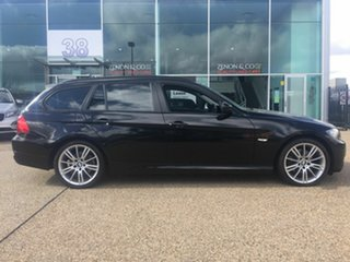 2012 BMW 3 Series E91 MY11 320d Touring Steptronic Lifestyle Black 6 Speed Sports Automatic Wagon.