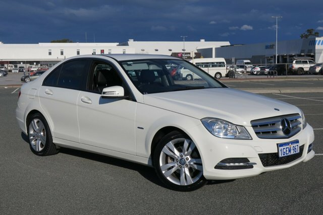 Used Mercedes-Benz C-Class W204 MY11 C200 BlueEFFICIENCY 7G-Tronic + Elegance, 2011 Mercedes-Benz C-Class W204 MY11 C200 BlueEFFICIENCY 7G-Tronic + Elegance White 7 Speed