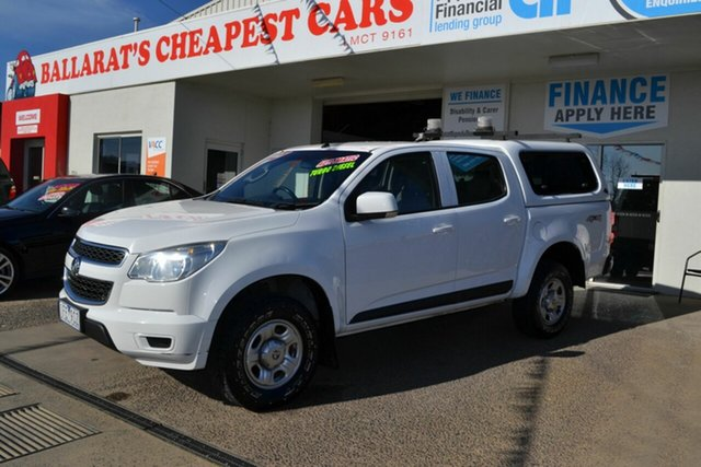 Used Holden Colorado RG MY15 LS (4x4), 2014 Holden Colorado RG MY15 LS (4x4) White 6 Speed Automatic Crew Cab Chassis