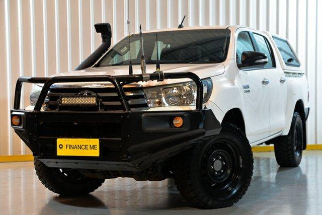 Used Toyota Hilux GUN126R SR Double Cab, 2016 Toyota Hilux GUN126R SR Double Cab White 6 Speed Manual Cab Chassis