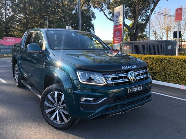 Demo Volkswagen Amarok 2H MY19 TDI580 4MOTION Perm Ultimate, 2019 Volkswagen Amarok 2H MY19 TDI580 4MOTION Perm Ultimate Green 8 Speed Automatic Utility