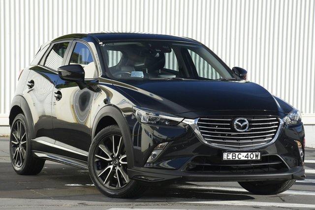 Used Mazda CX-3 DK4W7A Akari SKYACTIV-Drive i-ACTIV AWD, 2015 Mazda CX-3 DK4W7A Akari SKYACTIV-Drive i-ACTIV AWD Black 6 Speed Sports Automatic Wagon