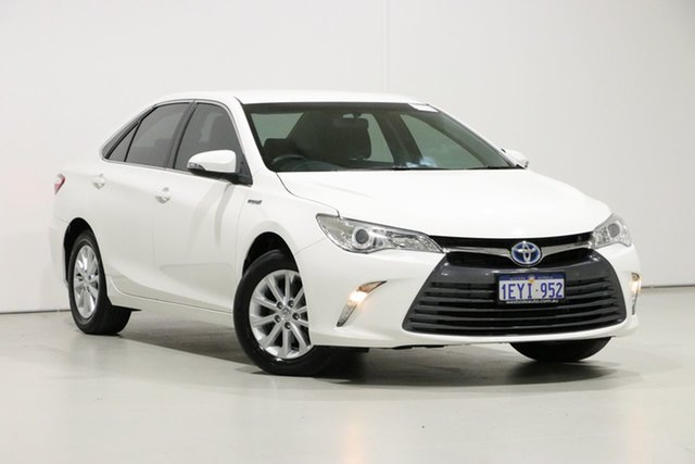 Used Toyota Camry AVV50R MY15 Altise Hybrid, 2015 Toyota Camry AVV50R MY15 Altise Hybrid White Continuous Variable Sedan