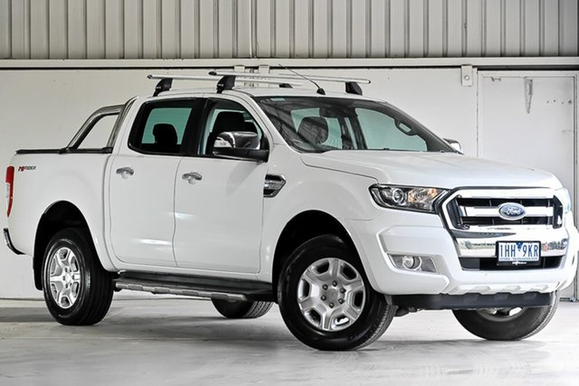 Used Ford Ranger PX MkII XLT Double Cab 4x2 Hi-Rider, 2016 Ford Ranger PX MkII XLT Double Cab 4x2 Hi-Rider White 6 Speed Sports Automatic Utility