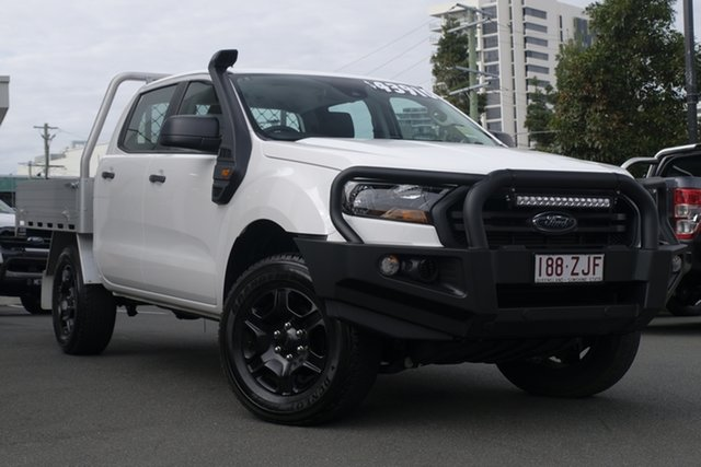 Demo Ford Ranger PX MkIII 2019.75MY XL Double Cab, 2019 Ford Ranger PX MkIII 2019.75MY XL Double Cab Arctic White 6 Speed Sports Automatic Cab Chassis
