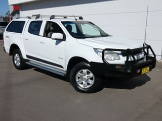 2012 Holden Colorado RG MY13 LT Crew Cab White 5 Speed Manual Utility.