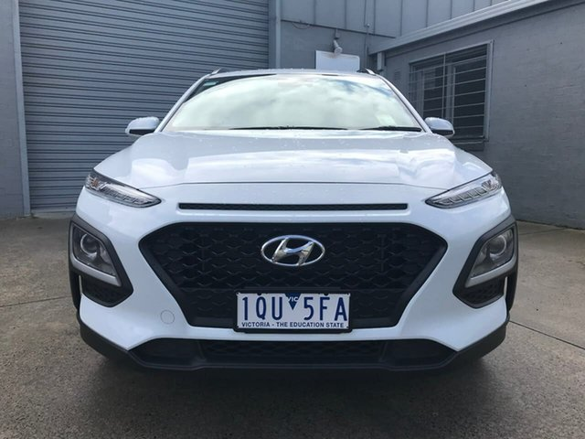 Used Hyundai Kona OS.3 MY20 Go 2WD Nunawading, 2019 Hyundai Kona OS.3 MY20 Go 2WD White 6 Speed Sports Automatic Wagon