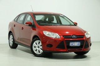 2014 Ford Focus LW MK2 MY14 Ambiente Red 6 Speed Automatic Sedan.
