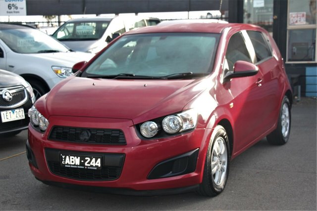 Used Holden Barina TM MY15 CD, 2014 Holden Barina TM MY15 CD Red 6 Speed Automatic Hatchback