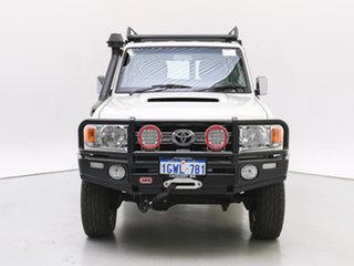 2014 Toyota Landcruiser VDJ76R MY12 Update GXL (4x4) White 5 Speed Manual Wagon.