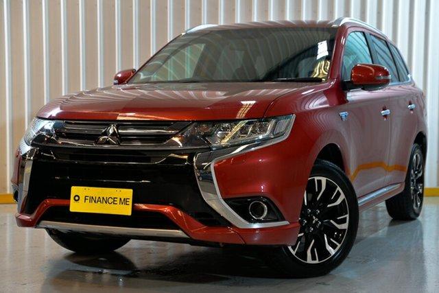 Used Mitsubishi Outlander ZK MY18 PHEV AWD LS, 2017 Mitsubishi Outlander ZK MY18 PHEV AWD LS Red/Black 1 Speed Automatic Wagon Hybrid