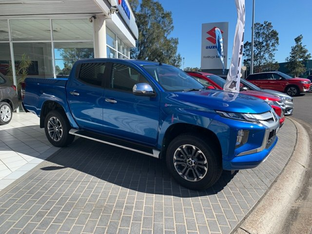 Demo Mitsubishi Triton MR MY20 GLS Double Cab, 2019 Mitsubishi Triton MR MY20 GLS Double Cab Impulse Blue 6 Speed Sports Automatic Utility