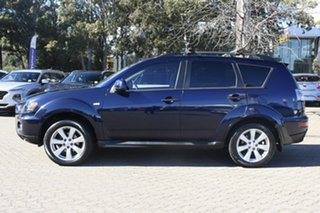 2010 Mitsubishi Outlander ZH MY10 Activ Blue 6 Speed CVT Auto Sequential Wagon