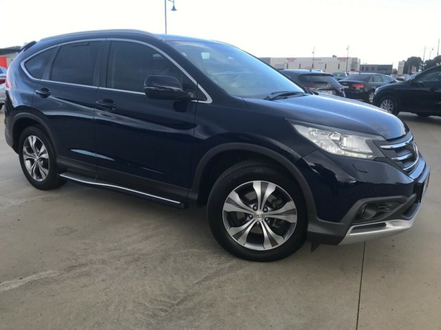 Used Honda CR-V RM MY14 DTi-L 4WD, 2014 Honda CR-V RM MY14 DTi-L 4WD Deep Ocean Blue 5 Speed Sports Automatic Wagon