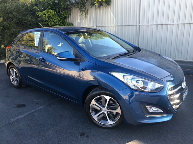 Used Hyundai i30 GD3 Series II MY16 Active X, 2015 Hyundai i30 GD3 Series II MY16 Active X Dazzling Blue 6 Speed Sports Automatic Hatchback