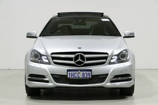 2013 Mercedes-Benz C250 W204 MY13 CDI BE Silver 7 Speed Automatic G-Tronic Coupe.