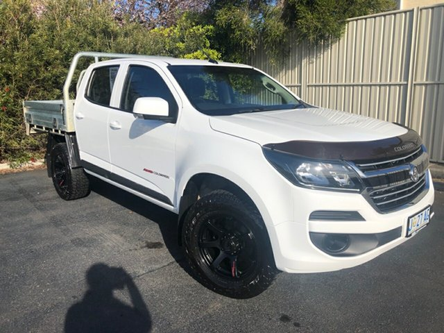 Used Holden Colorado RG MY18 LS Crew Cab, 2018 Holden Colorado RG MY18 LS Crew Cab Summit White 6 Speed Sports Automatic Cab Chassis