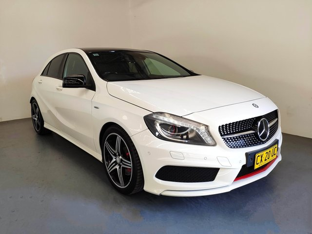 Used Mercedes-Benz A250 W176 Sport D-CT, 2013 Mercedes-Benz A250 W176 Sport D-CT White 7 Speed Sports Automatic Dual Clutch Hatchback
