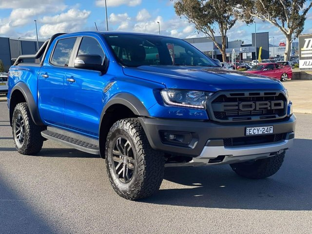 Used Ford Ranger  , 2019 Ford Ranger Raptor Blue Lightning Sports Automatic Dual Cab Utility