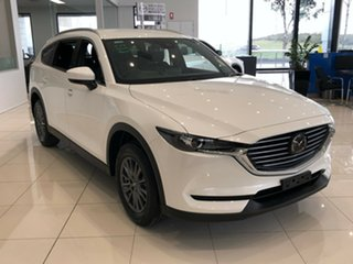 2020 Mazda CX-8 KG2WLA Sport SKYACTIV-Drive FWD Snowflake White Pearl 6 Speed Sports Automatic Wagon.