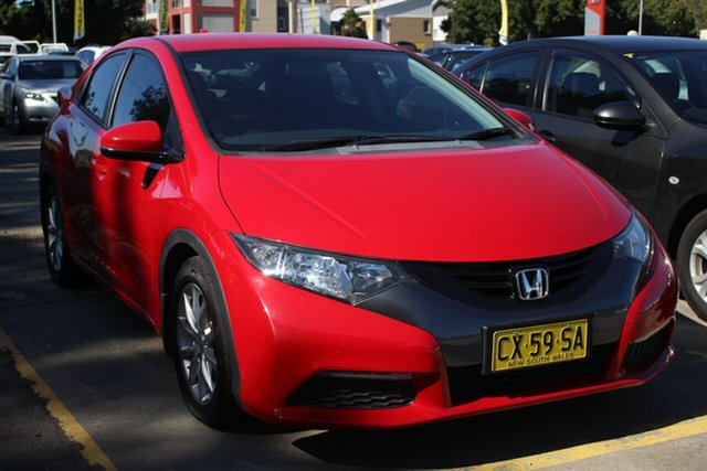 Used Honda Civic 9th Gen MY13 VTi-S, 2013 Honda Civic 9th Gen MY13 VTi-S Red 5 Speed Sports Automatic Hatchback