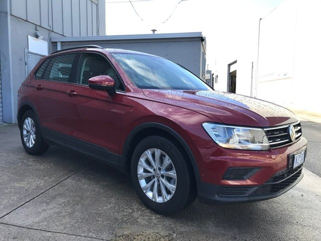 Used Volkswagen Tiguan 5N MY17 110TSI DSG 2WD Trendline, 2016 Volkswagen Tiguan 5N MY17 110TSI DSG 2WD Trendline Red 6 Speed Sports Automatic Dual Clutch