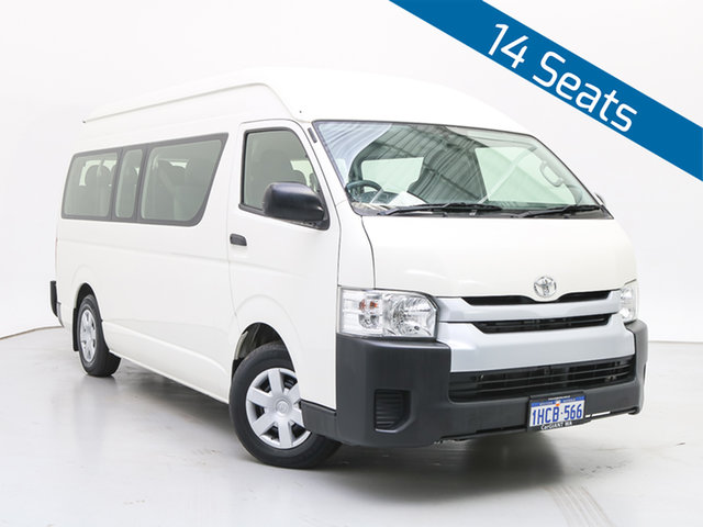 Used Toyota HiAce KDH223R MY12 Upgrade Commuter, 2014 Toyota HiAce KDH223R MY12 Upgrade Commuter White Bus