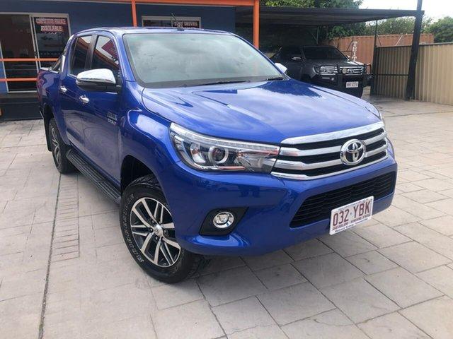 Used Toyota Hilux GUN126R SR5 Double Cab, 2018 Toyota Hilux GUN126R SR5 Double Cab Blue 6 Speed Sports Automatic Utility
